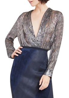 Elie Tahari Shelly Metallic Bodysuit