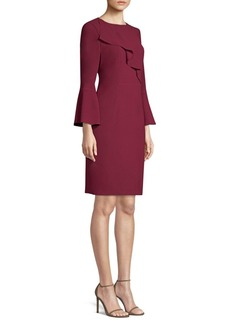 Elie Tahari Sibyl Bell Sleeve Crepe Dress