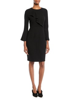 Elie Tahari Sibyl Ruffle-Detail Sheath Dress