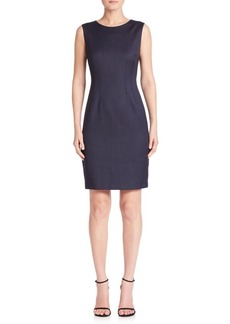 Elie Tahari Solid Wool-Blend Sheath Dress