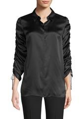 Elie Tahari Trans 18 Soma Gather Tie Sleeve Shirt