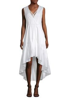 Elie Tahari Sondra High-Low Ruffle Dress