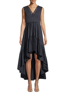 Elie Tahari Sondra V-Neck High-Low Dress