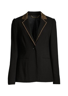 Elie Tahari Stella Studded Single-Button Jacket