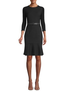 Elie Tahari Storm Pinstripe Sheath Dress
