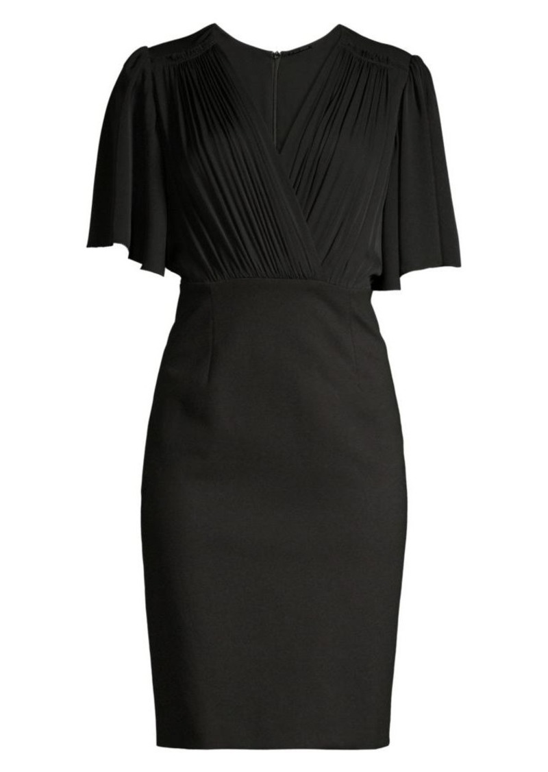 Elie Tahari Tarava Flutter Sleeve Dress