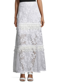 Elie Tahari Tayla Tiered Floral Lace Skirt