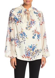 Elie Tahari Teagan Floral Long Sleeve Blouse