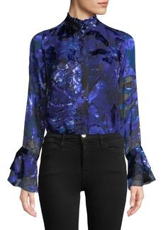 Elie Tahari Teddie Bell-Sleeve Blouse