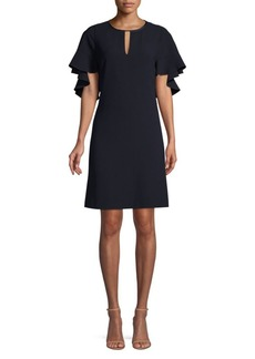 Elie Tahari Theodore Flutter Sleeve Sheath Dress