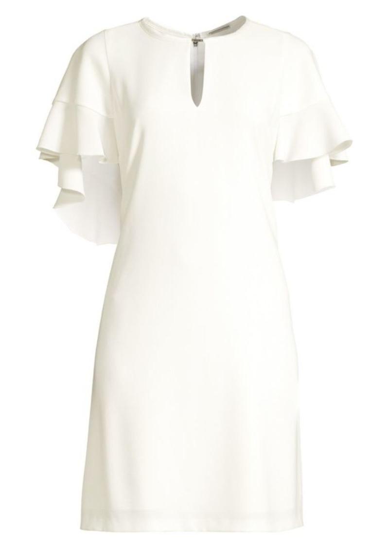 Elie Tahari Theodore Flutter Sleeve Sheath Dress