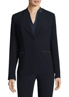 Elie Tahari Tori Notched Jacket