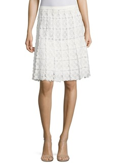 Elie Tahari Tyler Floral Lace Skirt