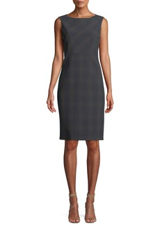 Elie Tahari Vanny Plaid Sheath Dress
