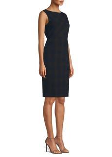 Elie Tahari Vanny Shadow Plaid Suiting Dress