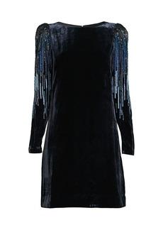 Elie Tahari Velvet Sequin Sheath Dress