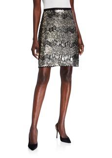 Elie Tahari Venus Embellished Skirt