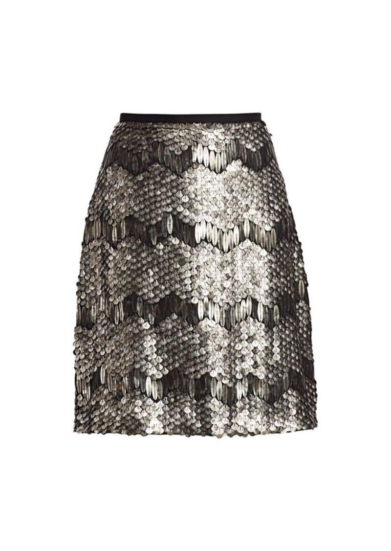 Elie Tahari Venus Sequin Skirt