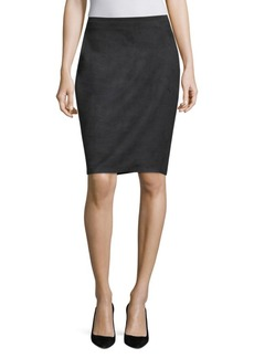 Elie Tahari Vincetta Faux Suede Pencil Skirt