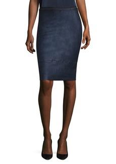 Elie Tahari Vincetta Leather Skirt