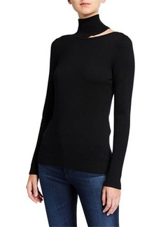 Elie Tahari Vita Turtleneck Cutout Sweater