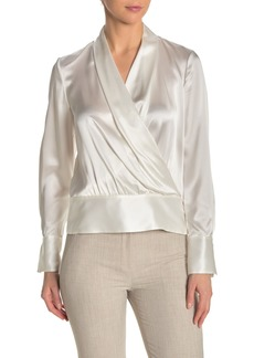 Elie Tahari Whitney Silk Surplice Blouse