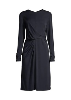 Elie Tahari Winda Draped Long Sleeve Dress