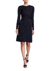 Elie Tahari Winda Long-Sleeve Jersey Dress