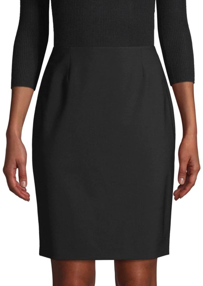 Elie Tahari Wool-Blend Pencil Skirt