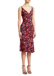 Elie Tahari Yirma Floral Sleeveless Dress