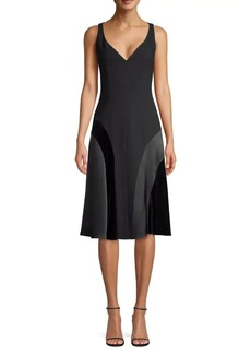 Elie Tahari Zaria Crepe Satin Panel Dress