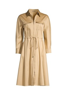 Elie Tahari Zoey Zip Shirtdress
