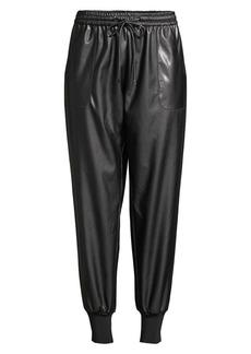 Elie Tahari Zuma Faux Leather Joggers