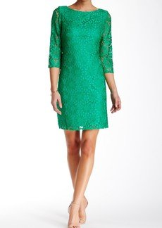 Eliza J 3/4 Length Sleeve Lace Shift Dress