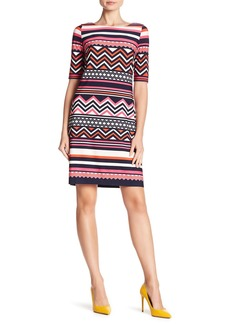 Eliza J 3/4 Sleeve Print Dress