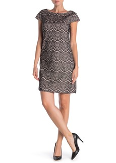 Eliza J Bonded Lace Shift Dress