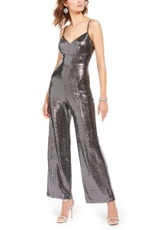 Eliza J Allover-Sparkle Jumpsuit