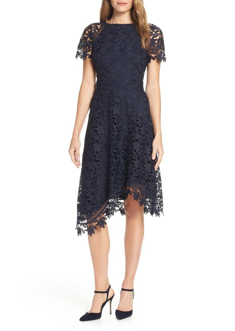 Eliza J Asymmetrical Lace Dress