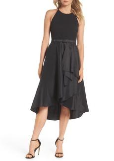 Eliza J Asymmetrical Tea Length Dress (Regular & Petite)