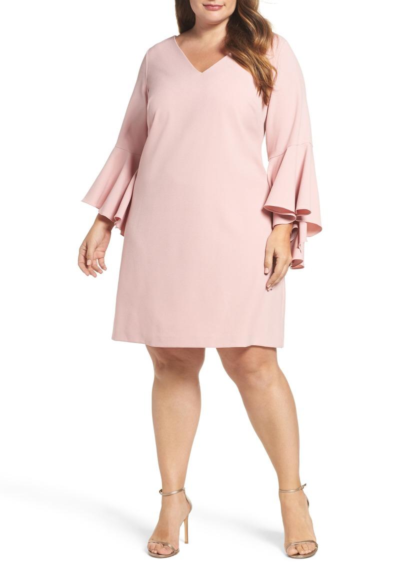 4d84d399 Eliza J Eliza J Bell Sleeve Crepe Shift Dress (Plus Size) | Dresses
