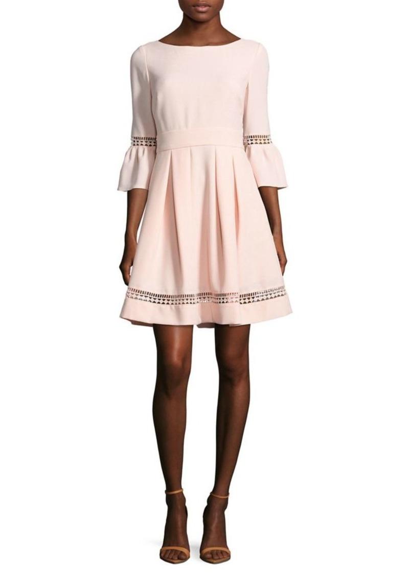 736ee33439a1 Eliza J Eliza J Bell-Sleeve Crochet Fit-&-Flare Dress | Dresses