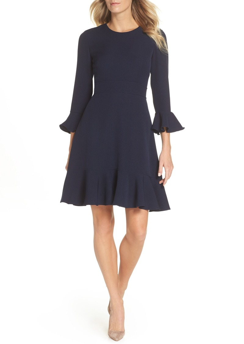 c64a9428f Eliza J Eliza J Bell Sleeve Fit & Flare Dress (Regular & Petite ...