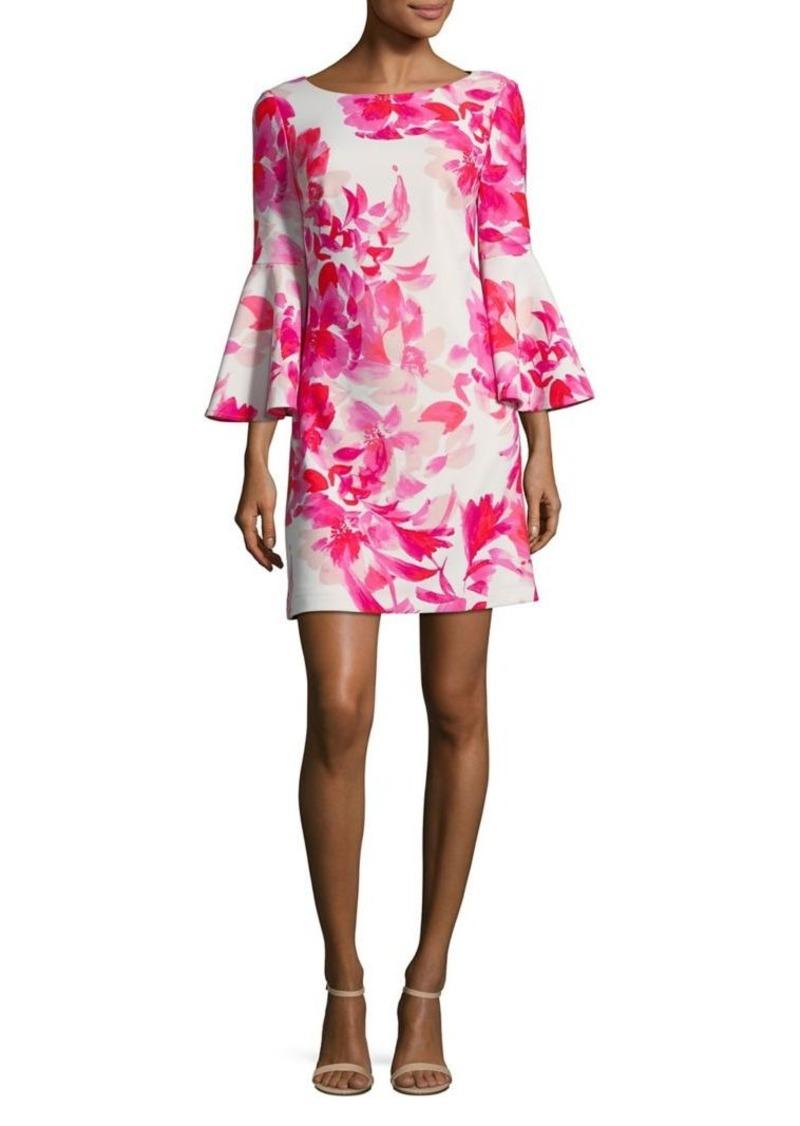 a442c48756b4 Eliza J Eliza J Bell-Sleeve Floral Shift Dress