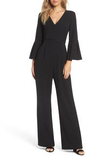 Eliza J Bell Sleeve Wide Leg Jumpsuit (Regular & Petite)
