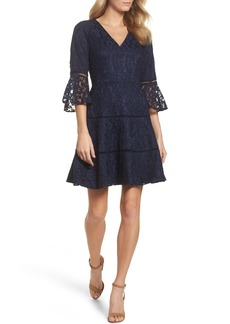 Eliza J Bell Sleeve Lace Fit & Flare Dress (Regular & Petite)