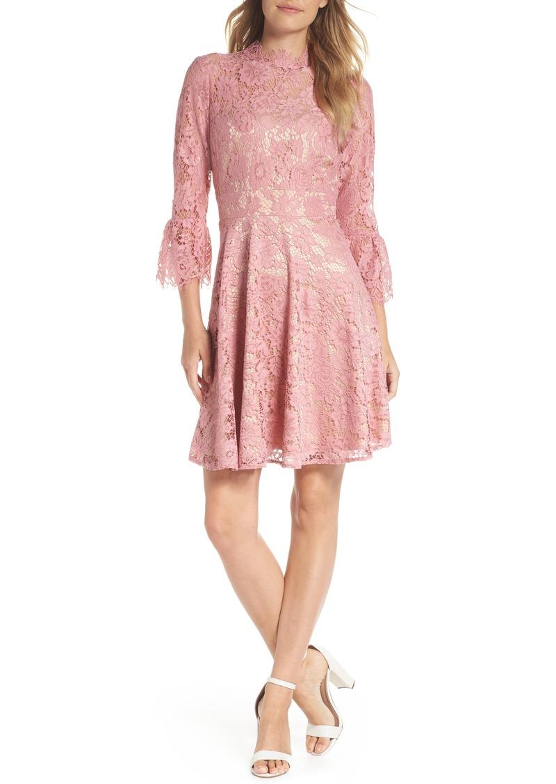 17dff8ebd3c On Sale today! Eliza J Eliza J Bell Sleeve Lace Fit & Flare Dress ...