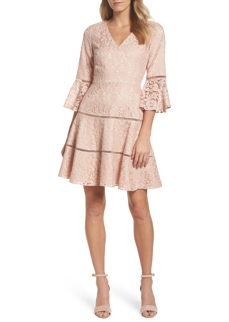 aafb8742b SALE! Eliza J Eliza J Bell Sleeve Lace Fit & Flare Dress (Regular ...