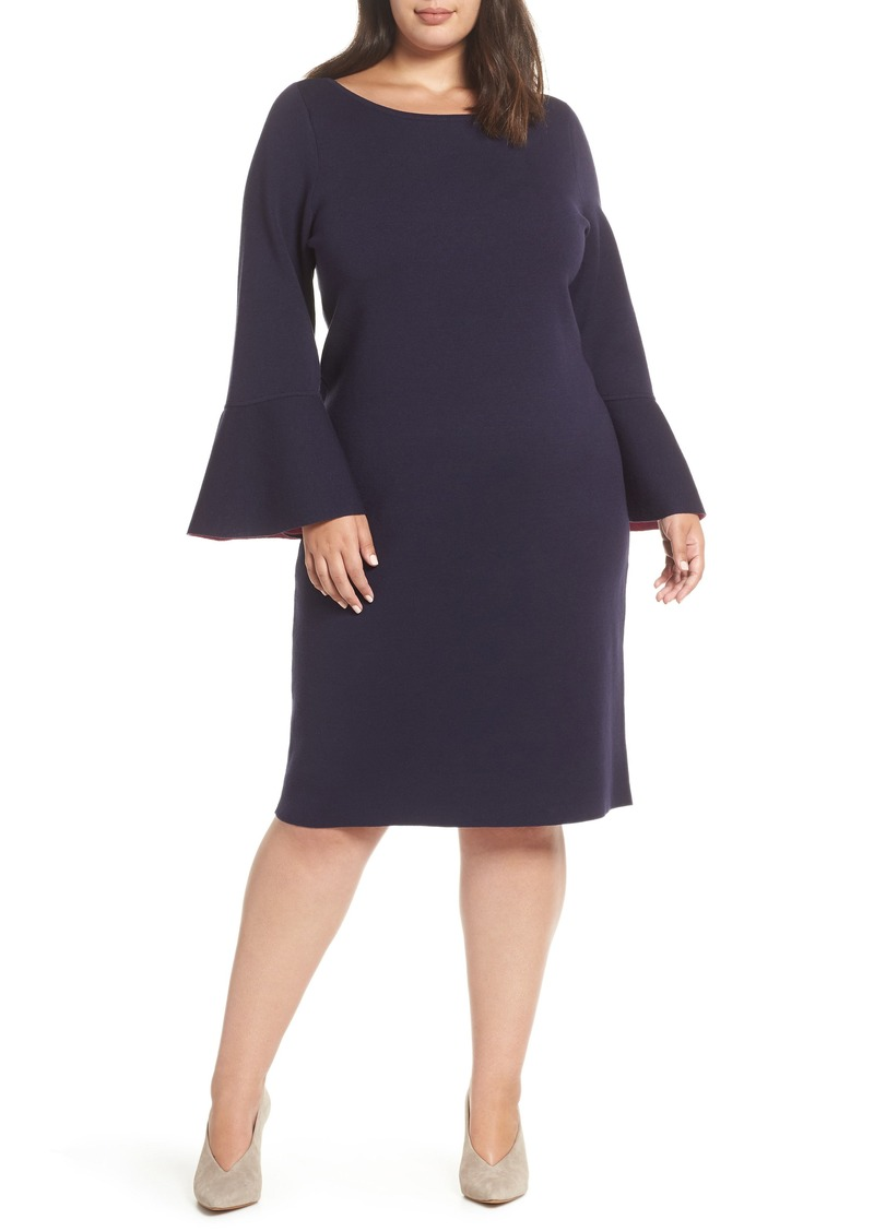 6317ba11f86 Eliza J Eliza J Bell Sleeve Midi Sweater Dress (Plus Size) Now  94.80