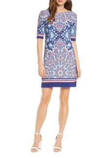 Eliza J Border Print Dress