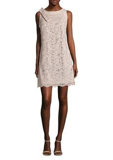 Eliza J Bow Lace Sheath Dress